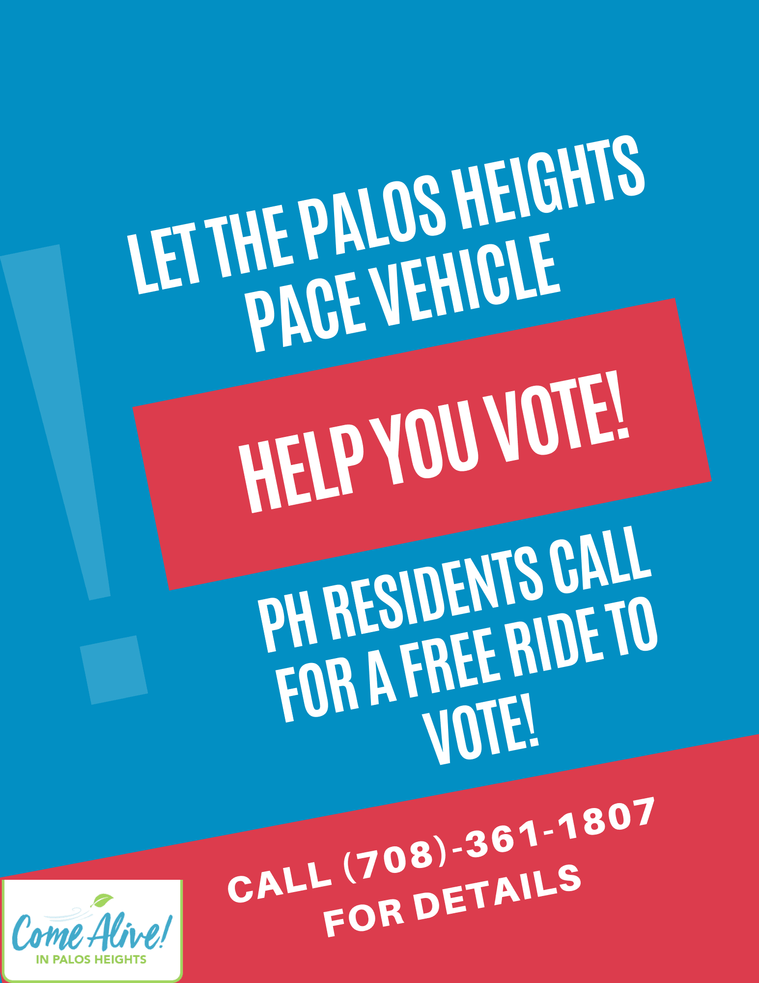 LET THE PALOS HEIGHTS PACE VEHICLE